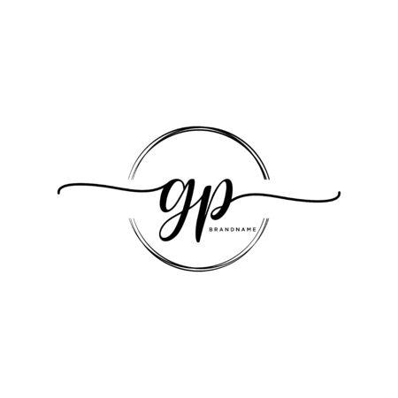 GP Initial handwriting with circle