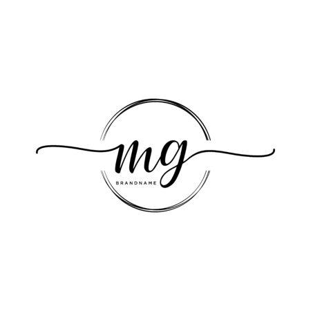 MG Initial handwriting logo with circle