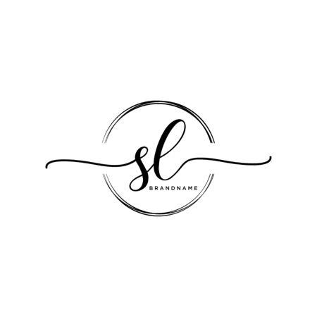 SL Initial handwriting with circle Ilustracje wektorowe