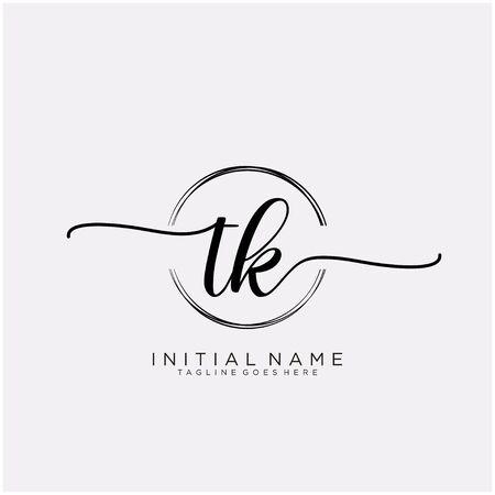 TK Initial handwriting with circle