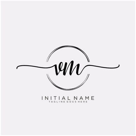 VM Initial handwriting with circle