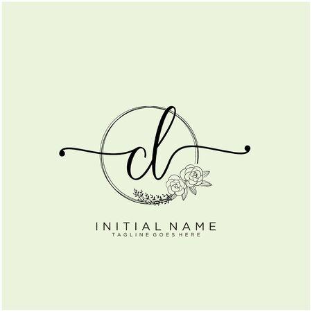 CL Initial handwriting logo design
