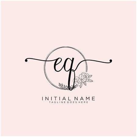 EQ Initial handwriting logo design