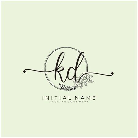 KD Initial handwriting logo design Logó