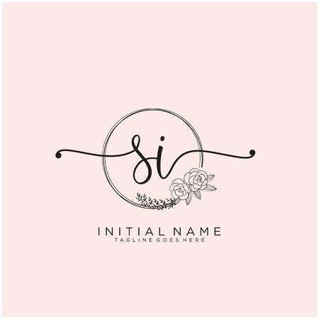 SI Initial handwriting logo design Logo