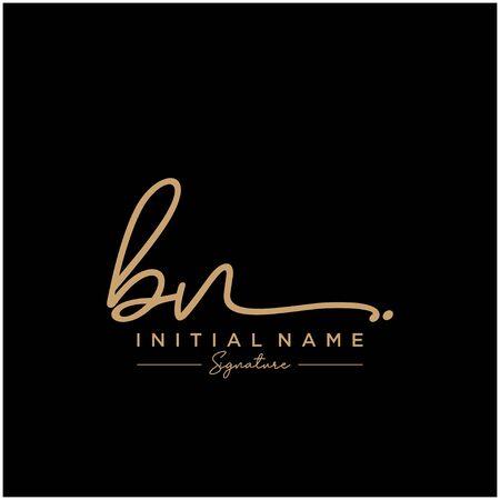 Letter BN Signature Template