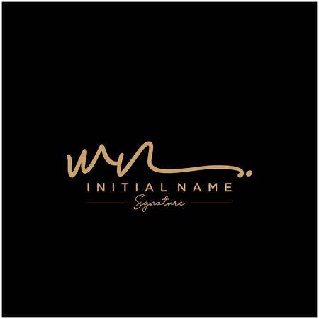 Letter WN Signature Logo Template Vector