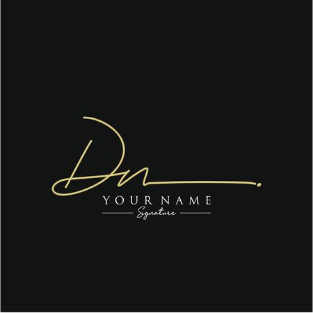 Letter DN Signature Template