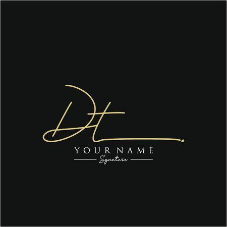 Letter DT Signature Template