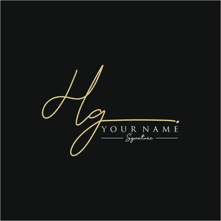 Letter HG Signature Template Vektoros illusztráció