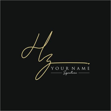 Letter HZ Signature Template