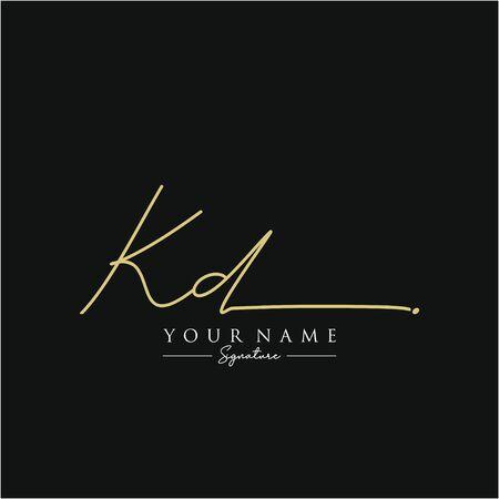 Letter KD Signature Template