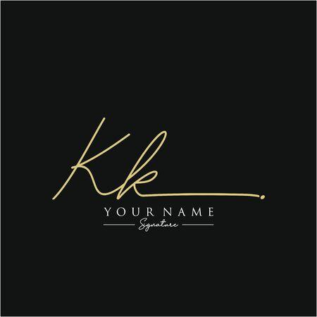 Letter KK Signature Template
