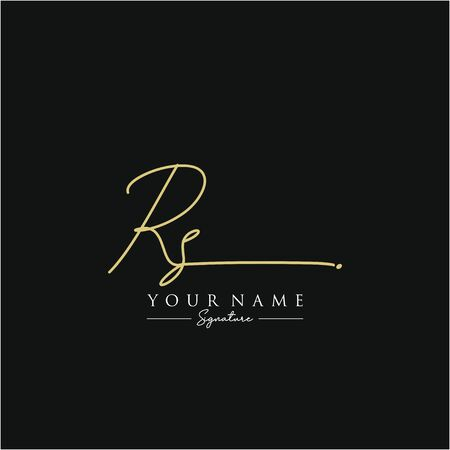 Letter RS Signature Logo Template Vector
