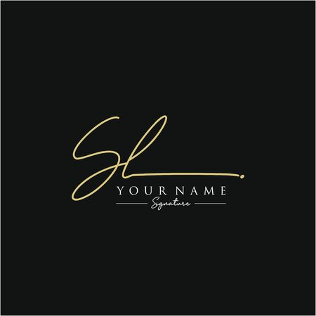 Letter SL Signature Logo Template Vector