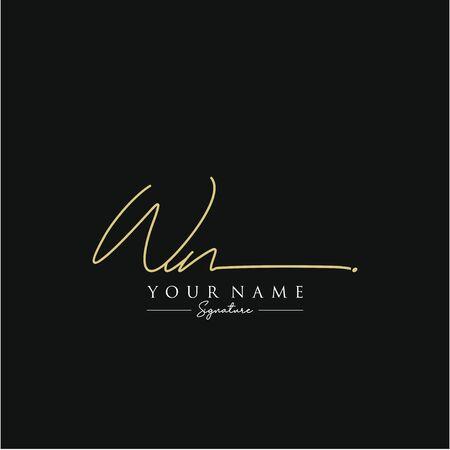 Letter WN Signature Logo Template Vector Logo