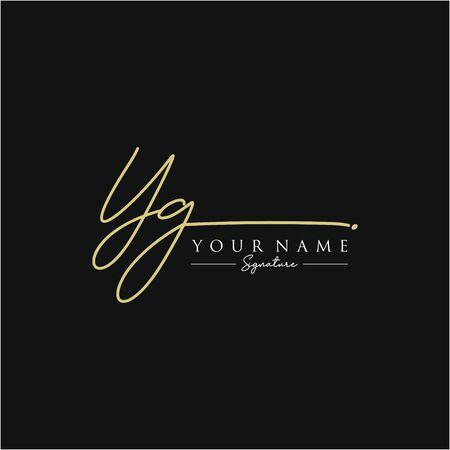 Letter YG Signature Logo Template Vector Logo