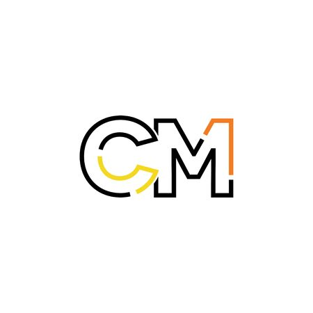 Letter CM logo icon design template elements 向量圖像