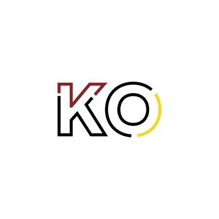 Letter KO logo icon design template elements Logo