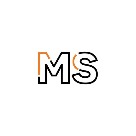 Letter MS logo icon design template elements 向量圖像