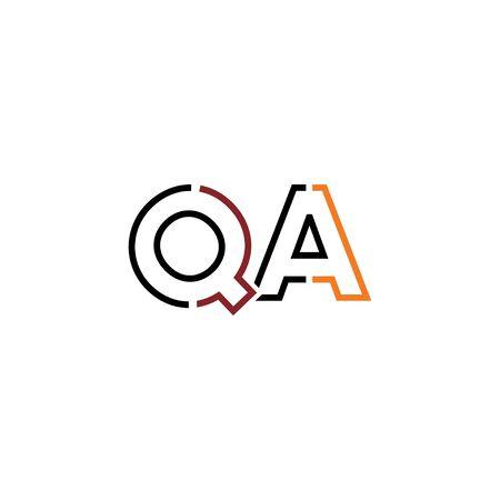 Letter QA logo icon design template elements