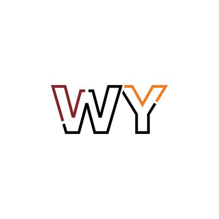Letter WY logo icon design template elements 일러스트