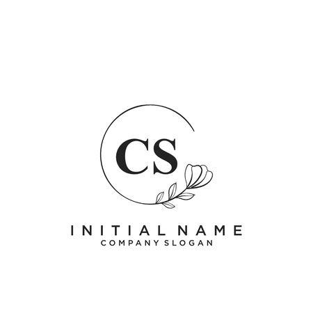 Letter CS Beauty Logo Template Vector