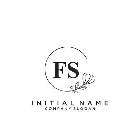 Letter FS Beauty Logo Template Vector