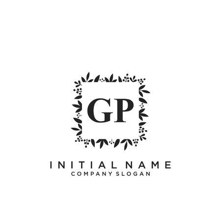 Letter GP Beauty Logo Template Vector