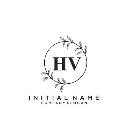 Letter HV Beauty Logo Template Vector Logó