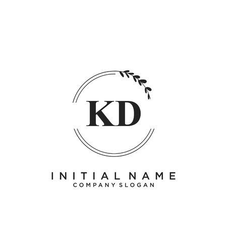 Letter KD Beauty Logo Template Vector Logó