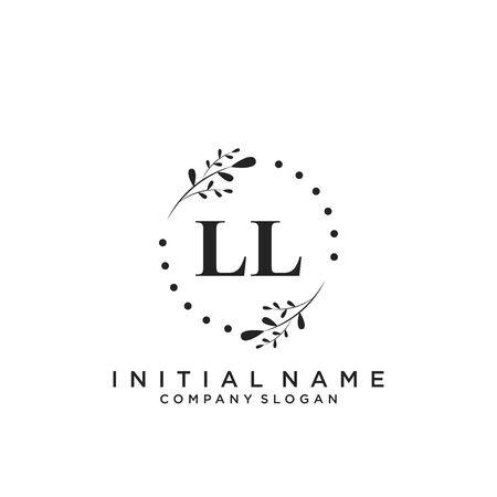 Letter LL Beauty Logo Template Vector Logó