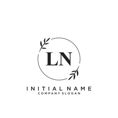 Letter LN Beauty Logo Template Vector