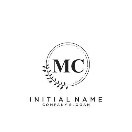 Letter MC Beauty Logo Template Vector