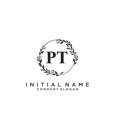 Letter PT Beauty Logo Template Vector