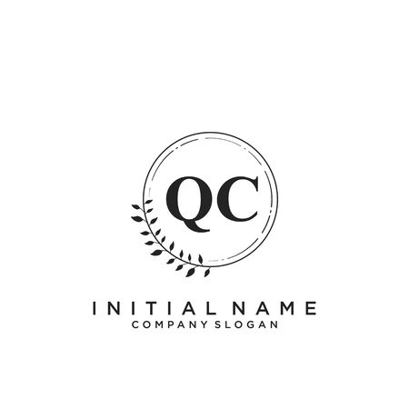 Letter QC Beauty Logo Template Vector