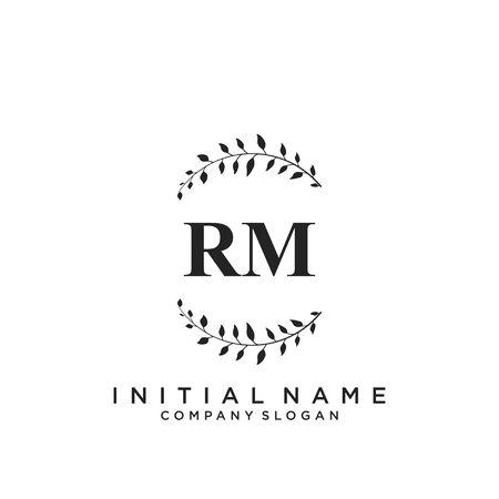 Letter RM Beauty Logo Template Vector