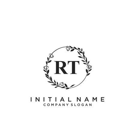 Letter RT Beauty Logo Template Vector Logó