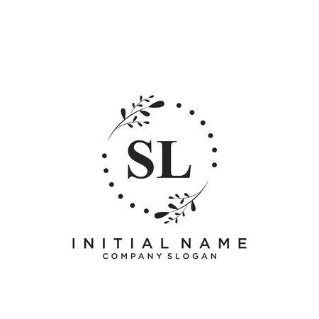 Letter SL Beauty Logo Template Vector Logó