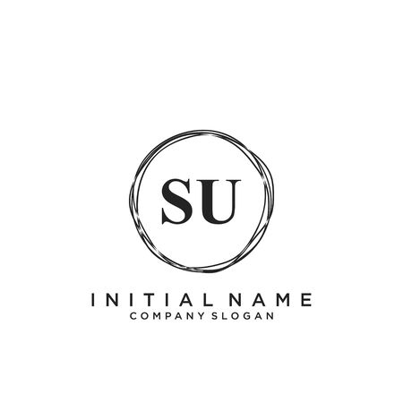 Letter SU Beauty Logo Template Vector