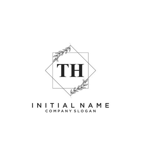 Letter TH Beauty Logo Template Vector Logó