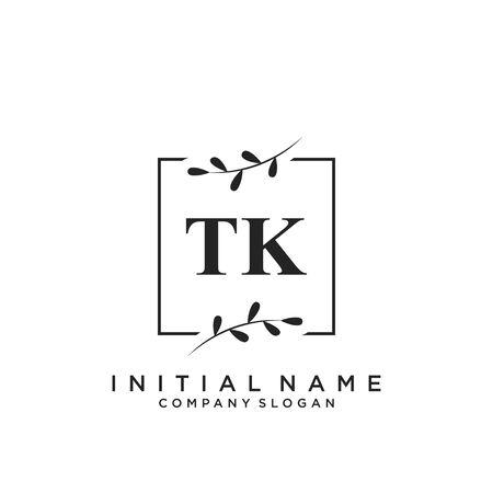 Letter TK Beauty Logo Template Vector