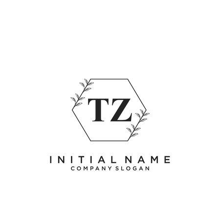 Letter TZ Beauty Logo Template Vector