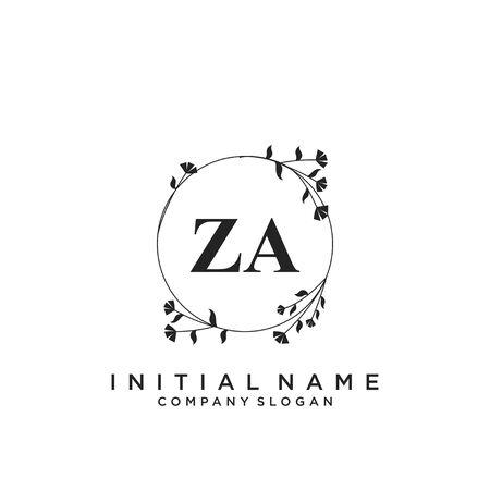 Letter ZA Beauty Logo Template Vector Logo