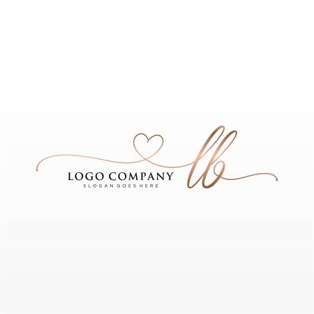 Initial handwriting logo design. Logo for fashion,photography, wedding, beauty, business company.