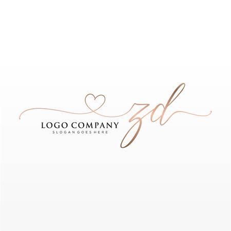 Erstes handschriftliches Logo-Design. Logo für Mode, Fotografie, Hochzeit, Schönheit, Unternehmen.