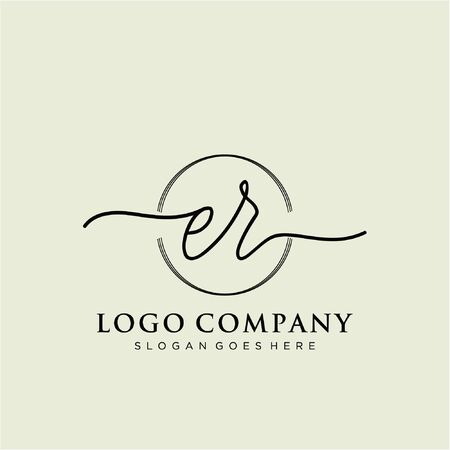 Initial handwriting logo design Beautiful design handwritten logo for fashion, team, wedding, luxury logo. Illusztráció