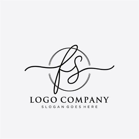 Initial handwriting logo design Beautiful design handwritten logo for fashion, team, wedding, luxury logo. Ilustração