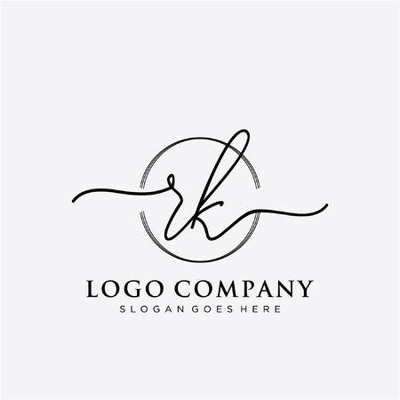Initial handwriting logo design Beautiful design handwritten logo for fashion, team, wedding, luxury logo. Logó