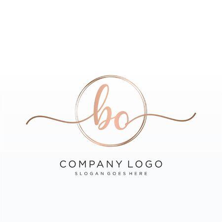 Initial handwriting logo design Beautiful design handwritten logo for fashion, team, wedding, luxury logo. Çizim